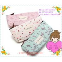 Buy cheap Light Pink Pastorable Floral Canvas Pen Pencil Bag/Case/Pouch/Holder with Zipper Closure from wholesalers
