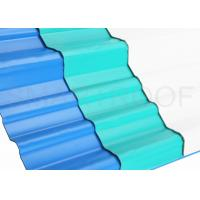Buy cheap Wearable Calcium Carbonate Corrugated Sheet Roofing Material Green / PVC Roof Tiles from wholesalers