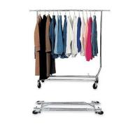 Collapsible Single Clothing Display Rack with Chrome Plating Service Equipment Manufactures