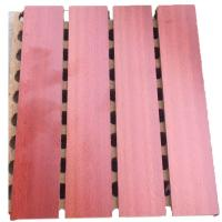 Buy cheap Composite Wall Boards Fiber Wood Plastic Grooved Acoustic Tiles For Soundproofing Walls from wholesalers