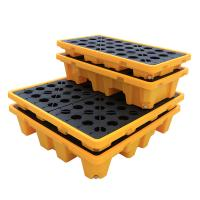 Buy cheap Wholesale Customizable Containment Liquid Detachable 1300*1300*300 4 drum Spill Pallet For Moving from wholesalers