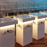 Buy cheap Showroom 500X400X1600MM Retail Glass Display Cabinets from wholesalers