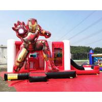 Buy cheap Iron Man Ultimate Combo Inflatable Bounce House Toboggan Castillos Hinchables from wholesalers