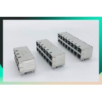 Buy cheap Shield Multi Port Connector , 2X8 Port RJ45 Connector With 1000 Base - T Integrated Magnetics Tab Up / Down from wholesalers