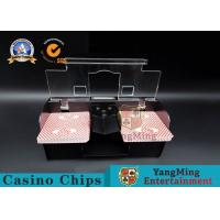 Wholesale Casino Exclusive Deluxe Automatic 2 Deck Playing Card Shuffler Double Deluxe from china suppliers