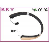 Buy cheap Luxury Gold Bluetooth Noise Cancelling Headphone For Apple IPhone / Smartphones product