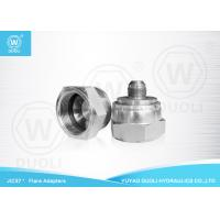 Buy cheap Hydraulic Quick Connect JIC Flare Fittings 37 Degree Adapters With White Zinc Plated from wholesalers