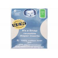 Buy cheap Reusable Baby Cloth Diapers Inserts 6 Pack Baby Cotton Nappies OEM/ODM Available from wholesalers