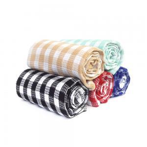 Kitchen Cotton Yarn Dyed Checks Pattern Household Waffle Tea Towel Set Manufactures
