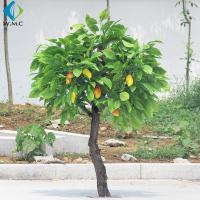 Wholesale Durable Plastic Fruit Trees , 2m Height Artificial Mango Tree Wooden Case Packed from china suppliers