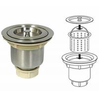 Buy cheap Basket sink strainer blocks residue with removable basket from wholesalers