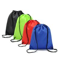 Buy cheap polyester 190T 210D nylon drawstring bag outdoor sport bag packing pouch shopping bag high quality promotion item from wholesalers