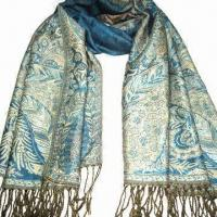 Buy cheap Cashmere-like Scarf, Customized Specifications are Accepted, Measures 2.23ftx5.9+0.26 inches x 2 product