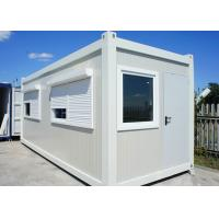 Buy cheap White Color Flat Pack Container House With Roller Shutter Window For Holiday from wholesalers