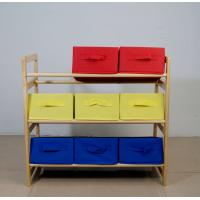 Buy cheap 60CM Height Kids Playroom Furniture Toy Organizer With Nine Fabric Storage Bins from wholesalers