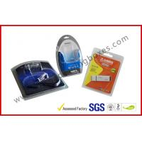 Buy cheap Folded Cable Transparent Plastic Clamshell Packaging For USB With Paper Insert product