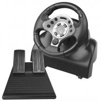 video game steering wheel racing wheel with foot pedal for PC PC360 PS2 PS3 Manufactures