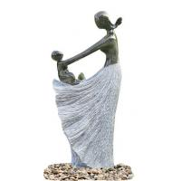 Wholesale Decorative Garden Fountains , Statue Water Fountains With Plastic Pump Material from china suppliers