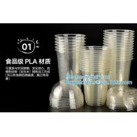 Buy cheap Disposable compostable wholesale CPLA lids for hot cups,80mm 90mm compostable eco friendly PLA CPLA lids for coffee plas from wholesalers