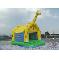 Buy cheap Yellow Giraffe Inflatable Outdoor Toys Blow Up Bouncy Castle Double Needle Safe Stitching from wholesalers