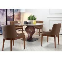 Buy cheap Hotel Or Restaurant Furniture Dining Room Armchair With Fabric Seat Brown Color from wholesalers