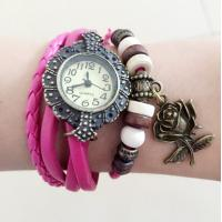 Buy cheap Fashion Round Dial Flower Charm Ladies Bracelet Wrist Watches Relogios from wholesalers