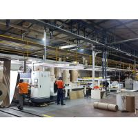 Buy cheap Automatic 2 Ply Corrugated Cardboard Machine Production Line 1 Year Warranty from wholesalers