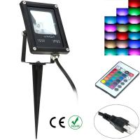 Wholesale 10W Solar Landscape Light LED Garden Flood light White RGB 12V or 86 - 240V from china suppliers
