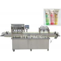 High Efficiency Cosmetic Cream Filling Machine With PLC Control Manufactures