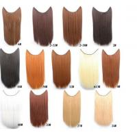 Buy cheap Tangle Free Natural Synthetic Colored Hair Extensions Clip In with 16 from wholesalers