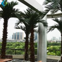 Wholesale Green Plastic Palm Trees , Large Fake Outdoor Palm Trees For Amusement Park Decoration from china suppliers