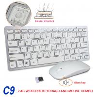 Buy cheap 2.4G Wireless Keyboard Mouse Set , Stylish Keyboard And Mouse Combo from wholesalers