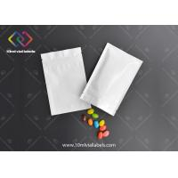 Buy cheap Silver Color Ziplock Sealable Foil Pouches With Full Color Printing from wholesalers
