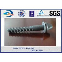 Galvanized Surface Railway Sleeper Screws Speical Head 35# ISO Approval Manufactures