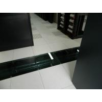 Computer Room Tempered Glass Floor Systems Bare Panel 363 Kg Concentrated Loading Manufactures