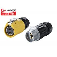 Buy cheap PBT Shell Gold Pating  Waterproof Power Connector , Connection DC 2 Pole Waterproof Connector from wholesalers
