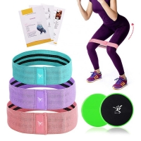 Buy cheap Custom Booty Resistance Workout Hip Bands Set with Training Fitness Core Sliders from wholesalers