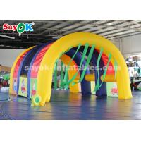 Buy cheap Movable Rainbow Inflatable Air Tent For Party / Blow Up Arch Tent from wholesalers