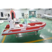 Buy cheap 4.8m Semi - Rigid FRP Foldable Inflatable Boat Inflatable Fishing Boats With Certificate from wholesalers