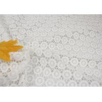 Buy cheap White Chemical Water Soluble Guipure Lace Fabric By The Yard For Party Sexy Dress from wholesalers