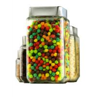 Buy cheap 2012 square glass cookie jars wholesale,glassware from wholesalers