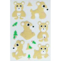 Buy cheap Removable PVC Foam Puffy Animal Stickers For Scrapbooking Die Cut Machine Processed product