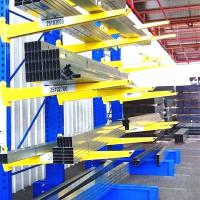 Buy cheap double sided steel cantilever rack for timber pipe long items warehouse storage from wholesalers