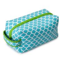 Wholesale Blue / Green Neoprene Pencil Case , Eco-friendly Cosmetic Bag With Zipper from china suppliers