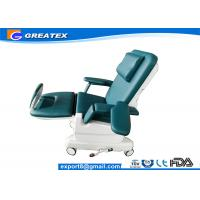 Wholesale Blue , Green , Gray Hospital Electric Dialysis / Transfusion Chair for infusion and rest from china suppliers