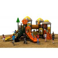 Buy cheap TUV standard imported PVC coated deck kids amusement park outdoor playground equipment with slide from wholesalers