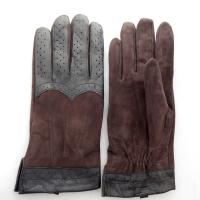 Buy cheap Promotion Men Plain Type Daily Life Usage Suede Machine Sewing Leather Gloves Winter from wholesalers