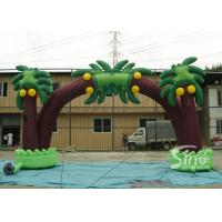 Buy cheap New tropical coconut tree advertising inflatable arch for sale from wholesalers