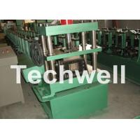 GCr15 Steel Cable Tray Roll Forming Machine For Storage Rack , Rack Beam 12-15m/min Manufactures