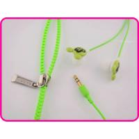 Buy cheap Durable And Lightweight Green Cartoon Mp3 Cute Zipper Earphones For Mp3 / Mp4 Players from wholesalers